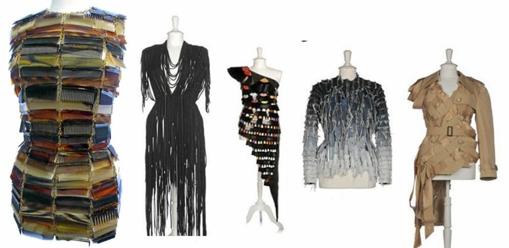 KREATIVT DESIGN: Martin Margiela er ikke redd for å tenke utenfor boksen, og har blant annet designet kjoler av skolisser, lp-plater og kammer.