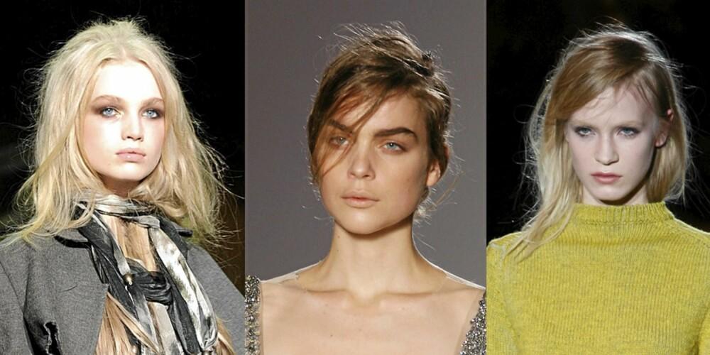 CATWALK: Roberto Cavalli, Dries Van Noten og Marc Jacobs satset på bustete hår.