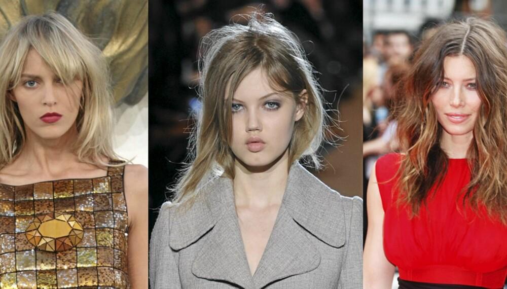 RUFESTE HÅR: Trendy og bustete på visningene til Chanel haute couture, Marc Jacobs og fra rød løper på Jessica Biel.