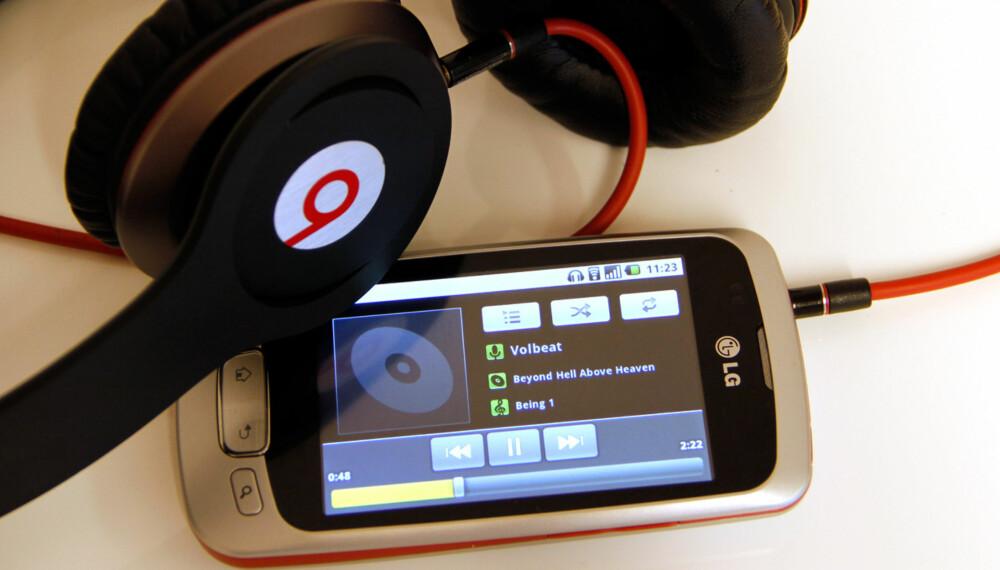 : BRA LYD: God lyd ved musikkavspilling.