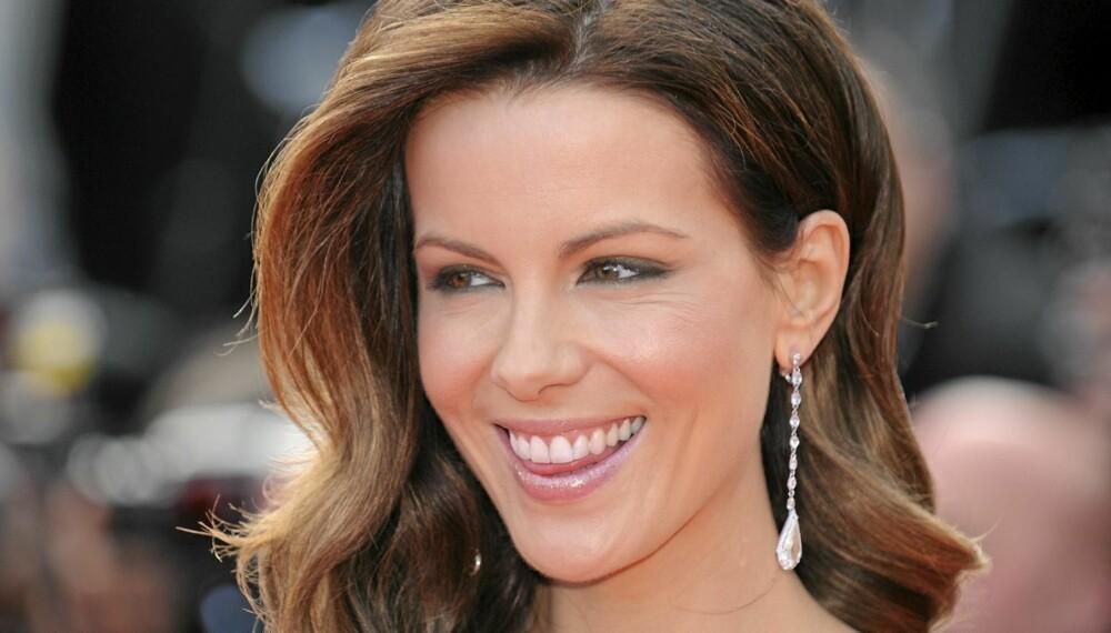 FLOTT: Skuespiller Kate Beckinsale ser flott ut med en glansfull hårfarge under Cannes Filmfestival.