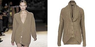 LANG STRIKKEJAKKE: Hent inspirasjon fra Stella McCartney, og skaff deg en lang strikkejakke i høst.