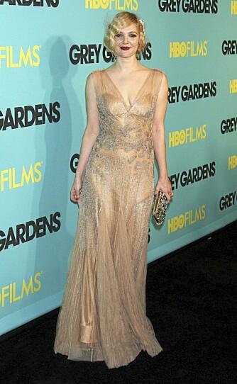 EPLE: Drew Barrymore har en typisk epleformet fasong, men er flink til å kle seg deretter.