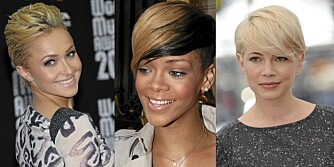 FRA VENSTRE: Hayden Panettiere, Rihanna og Michelle Williams.