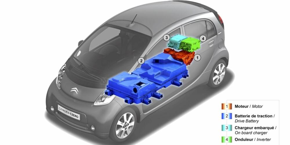 GJENNOMFØRT: C-Zero er konstruert som en elbil fra bunnen av, noe som for eksempel har resultert i at batteriene ligger der de bør ligge.