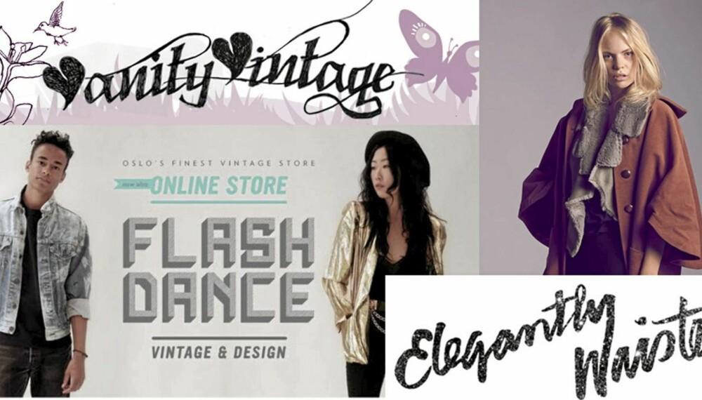 VINTAGE PÅ NETT: Flere norske moteeksperter satser på eksklusive nettbutikker med vintageklær.