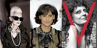 MODNE MODELLER: Både i kleskampanjer, på catwalken og på magasinforsidene satses det på godt voksne modeller.