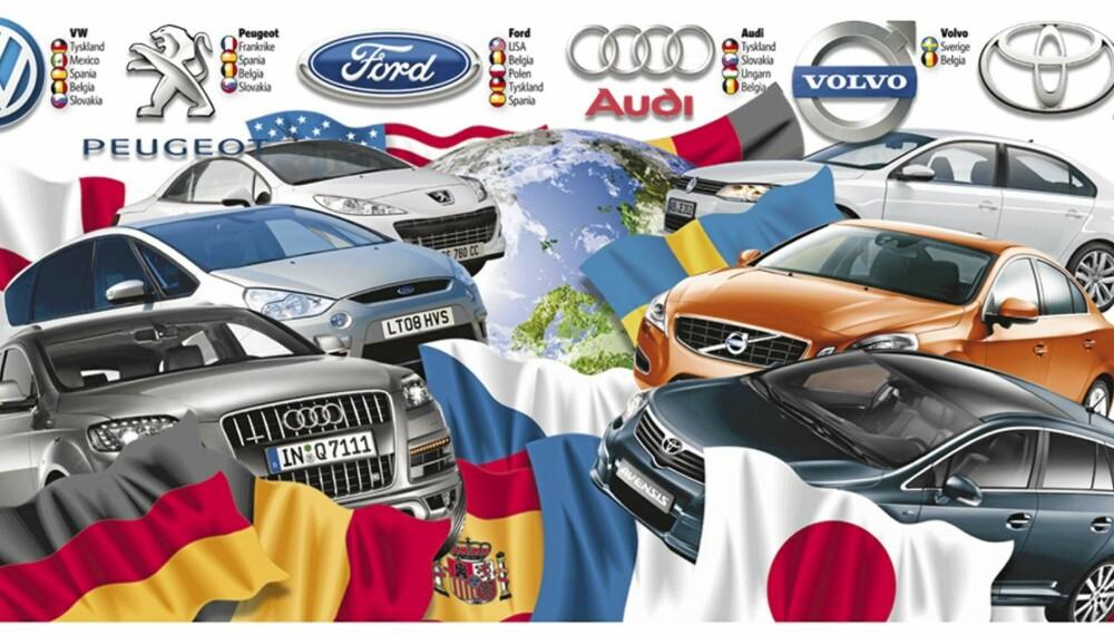 FORVIRRENDE: Det å eie en tysk statusbil, trenger ikke bety at bilen er skrudd sammen i Tyskland. Sjekk her for oversikten over hvor de ti største bilmerkene produserer bilene sine.