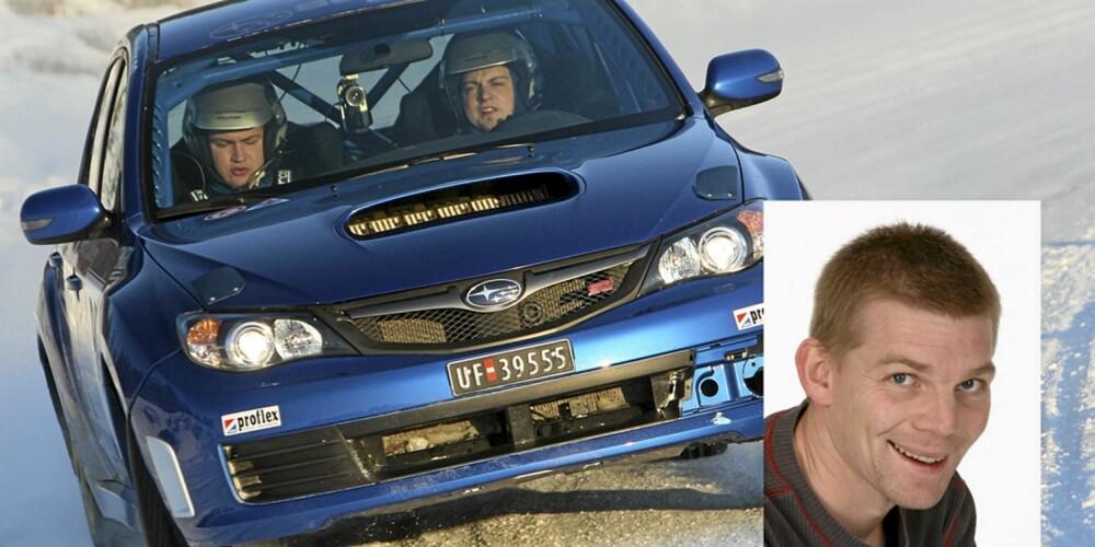 RALLY: Med 300 hester og 580 Nm er Subarus Cup-bil alt annet en hverdagslig. Knut Arne la sin elsk på denne etter en heftig dag på isbanen i 2010.