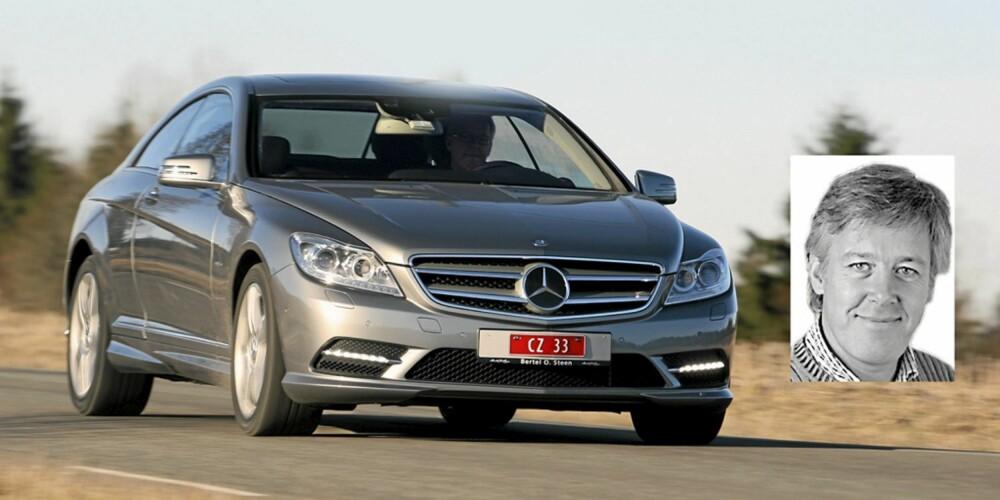 KREFTER SOM FÅ: Terje la sin elsk på kreftene i Mercedes CL 500 4Matic. 435 hester og 700 Nm er nok til å sende den nokså tunge kupeen til 100 km/t på 4,9 sekunder!