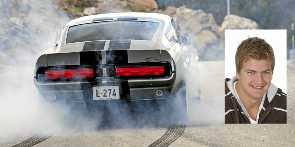 ELEANOR: Petter snakker fortsatt om sitt møte med den 750-hester sterke Eleanor-kopien fra Custom Cars.