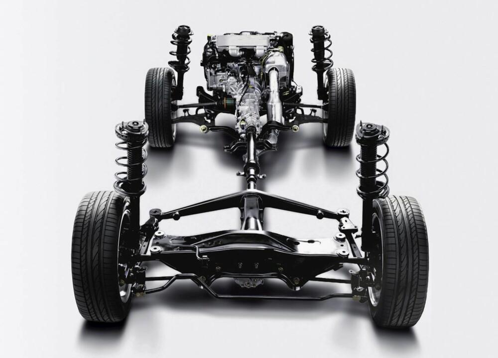 SYMMETRICAL AWD: Subarus firehjulstrekksystem trekker konstant på alle fire.