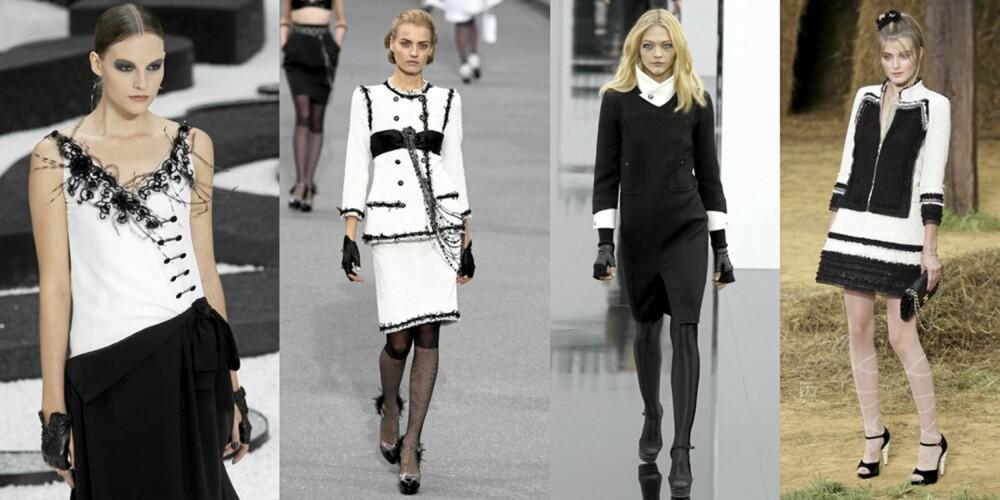 CHANEL: Sort og hvitt er en av Chanels viktigste kjennetegn.
