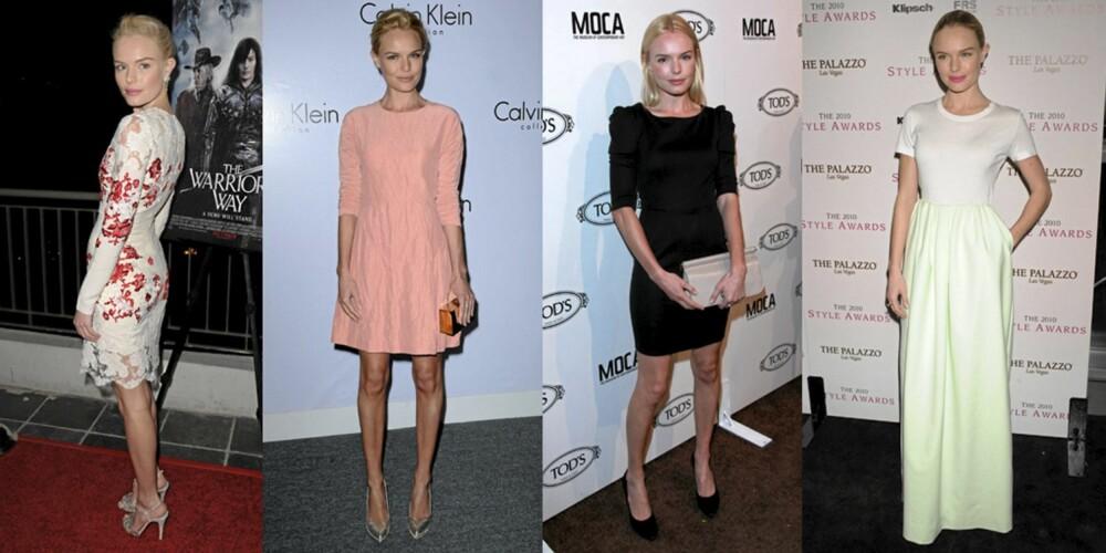 STJEL STILEN: Kate Bosworth elsker å kle seg i trendy, men enkle kjoler.