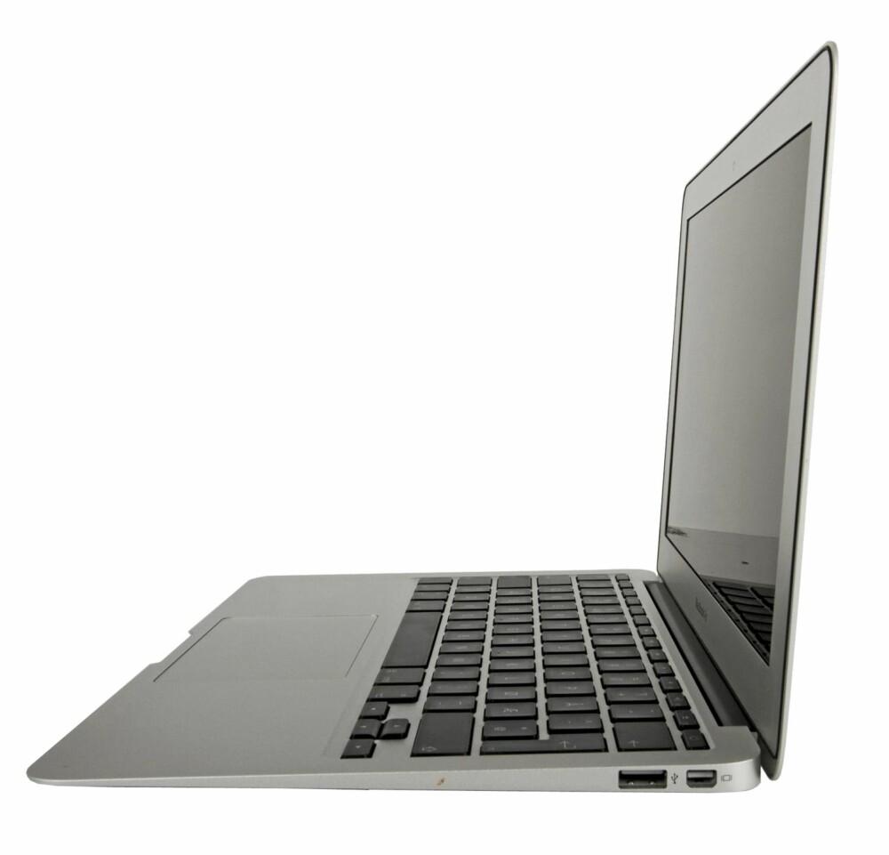 TYPISK: Designet minner mye om en tynnere versjon av MacBook Pro, uten optisk drev.