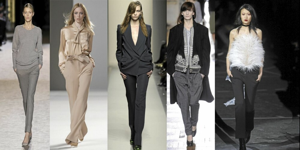FRA VENSTRE: Stella McCartney, Chloe, Bottega Veneta, Dries Van Notes, Givenchy