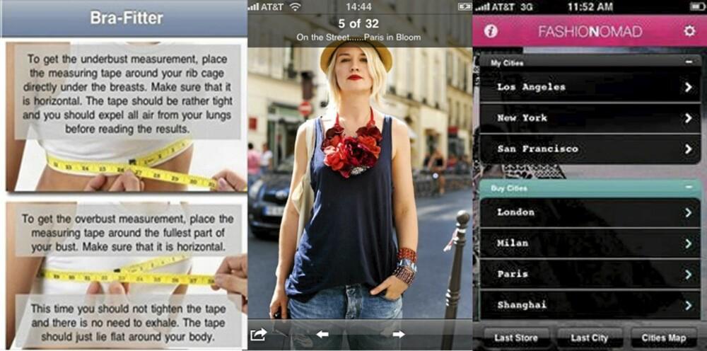 POPULERE: Bra-Fitter, Chicfeed og Fashion Nomad er populære apps blant moteinteresserte.