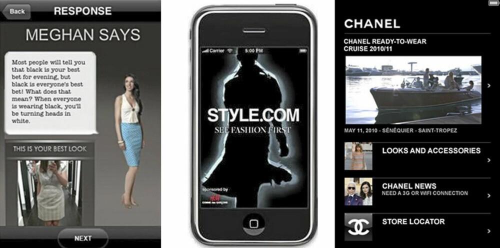 PRAKTISKE: Ask a stylist, style.com og Chanel hjelper deg å finne antrekk til hverdag og fest.
