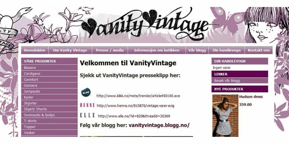 SKATTEKAMMER: Vanity Vintage er litt av et skattekammer.