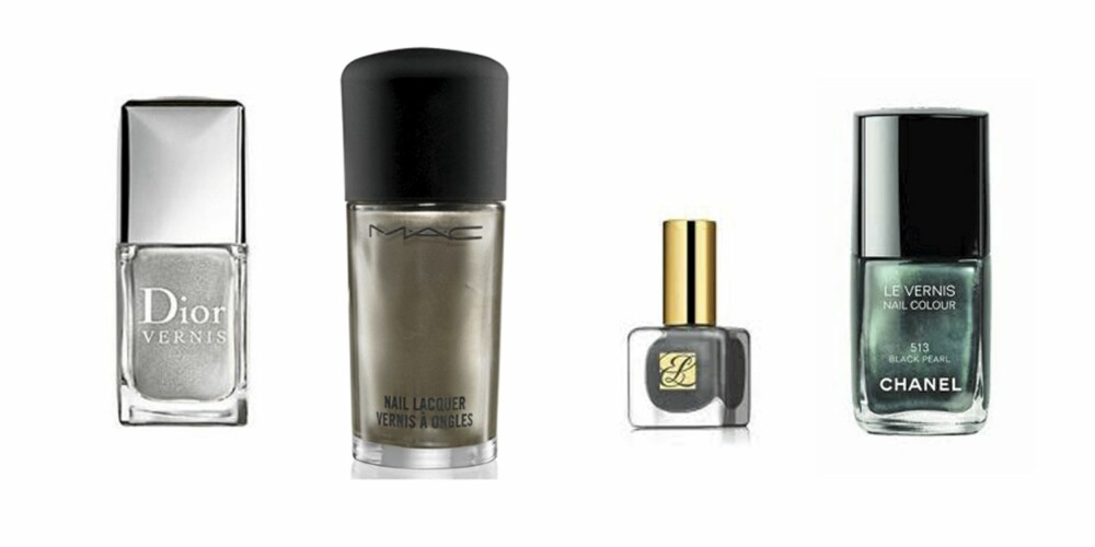 METALL: Dior (kr 250), M.A.C (kr 120), Estee Lauder (kr 190), Chanel (kr 210)