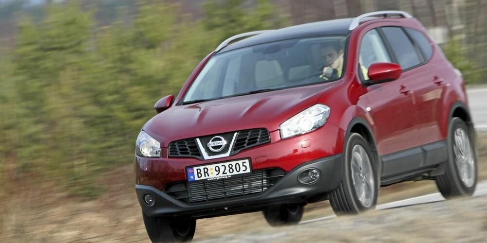 NESTEN-SUV: Nissan Qashqai+2 har mange SUV-gener, men du får den også som prisgunstig, rommelig og sjuseters forhjulstrekker.