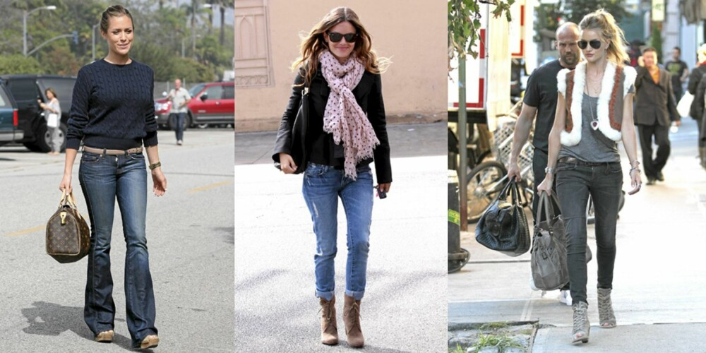 JEANS: Stjerner som Kristin Callavari, Rachel Bilson og Rosie Huntington-Whiteley sverger til jeans.