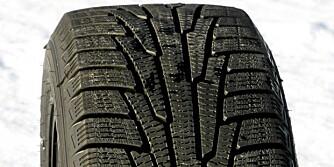VÅTT? Om det er våt asfalt, sliter Nokian Hakkapeliitta R-dekket mer enn de andre dekkene i denne testen.