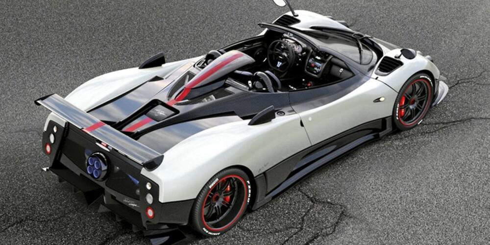 KUN FEM STYKK: Regn ikke med å noen gang få se en, Pagani skal nemlig bare lage fem eksemplarer av Cinque Roadster.