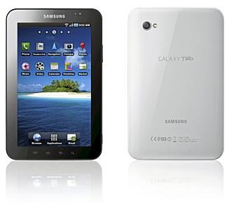 BRA KVALITET: Byggekvaliteten på Galaxy Tab virker for å være svært solid og med en finish vi vanligvis bare finner på produkter fra Apple.