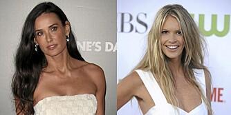 LANGT HÅR: Er Demi Moore og Elle MacPherson for gamle til å ha langt hår?