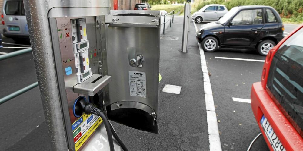 STRØM: Ladestasjon for elbiler er fortsaten mangelvare.