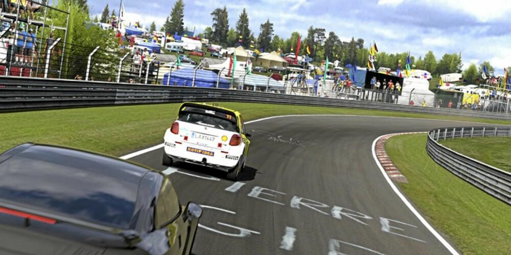 NÜRBURGRING: Alle racerbaners mor - Nürburgrings Nordschleife - er en sikker vinner på GT5.