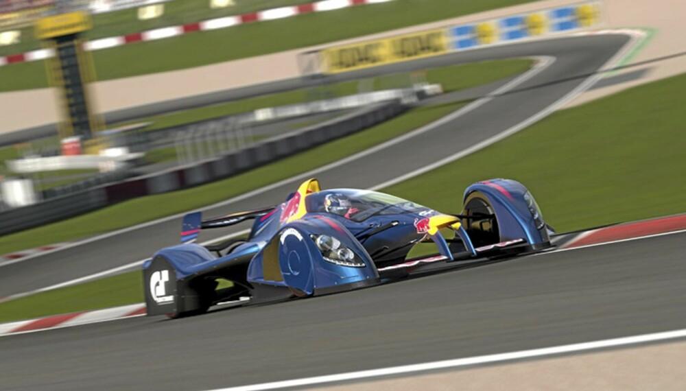 FREMTIDENS F1?:X1 Prototype er en av mange fete kappkjøringsbiler du møter i GT5.