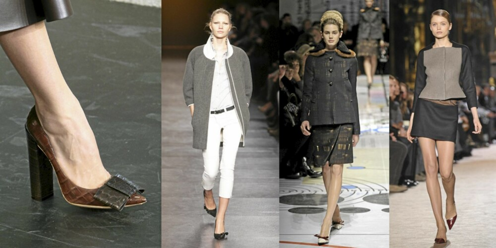 PÅ CATWALKEN: Louis Vuitton, Isabel Marant, Prada og Stella McCartney er blant designerne som satser på spiss tå denne sesongen.