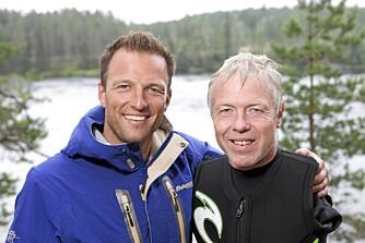 TV-AKTUELL: Cato Zahl Pedersen deltar i kjendisversjonen av «71° nord». Her sammen med programleder Tom Stiansen.