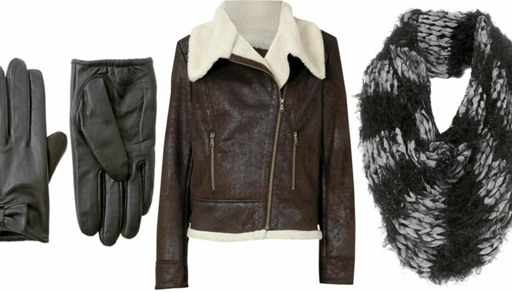 5357cba0 FRA VENSTRE: Skinnhansker fra Asos (kr 149), jakke fra Oasis (kr