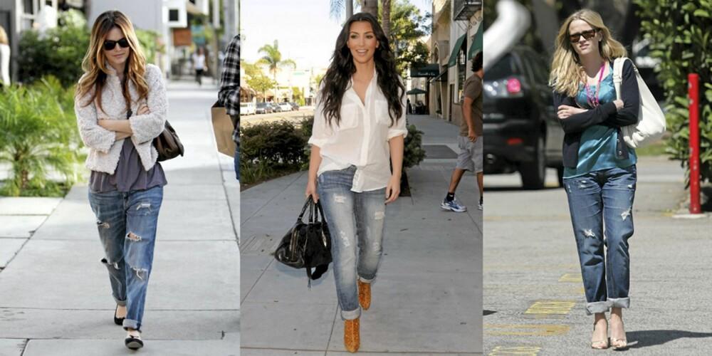 BOYFRIEND: Rachel Bilson, Kim Kardashian og Reese Witherspoon elsker boyfriend-jeans.