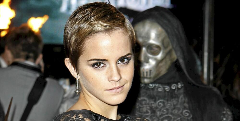 PIXIE: Emma Watson har klippet håret i en kort pixiefrisyre.
