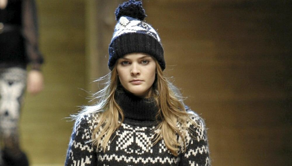 aff4d7f6 HOLD DEG VARM: Strikk er populært på catwalken til Dolce og Gabbana.