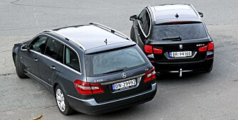 Frognerseteren 13102010 SML BMW 520d stv MB E 200 CDi stv SML BMW 520 MB E200