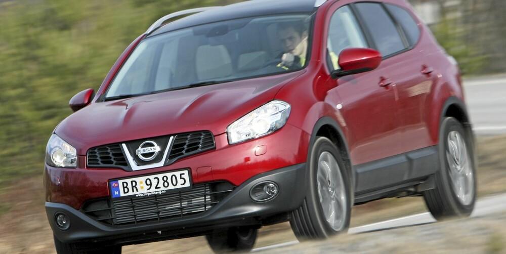 SUKSESS: Qashqai har vært en enorm suksess for Nissan. Det ikke alle vet, er at åtte av ti som kjører rundt kun har drift på hjulparet foran.