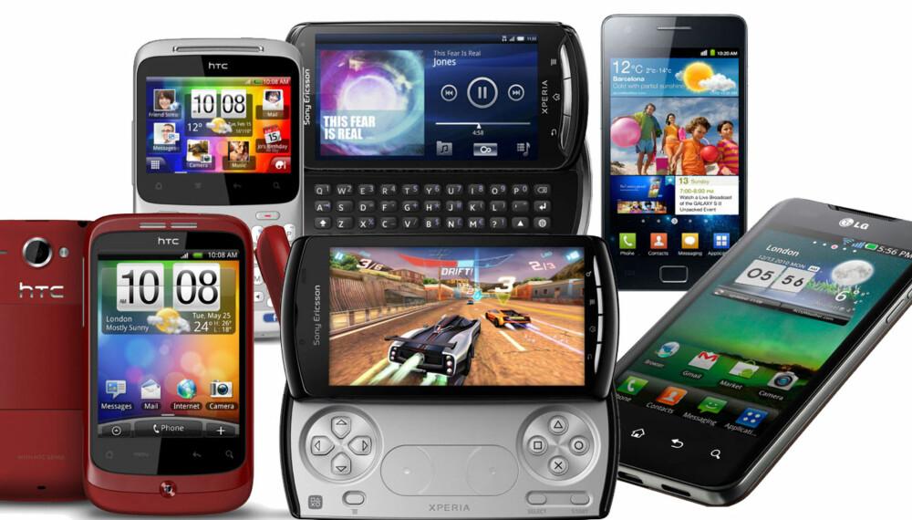 ANDROID-SLIPP: Android-telefonene dominerer Mobile World Congress i Barcelona.