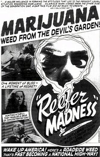 Hollywood har kommet langt siden 1936, da filmen «Reefer Madness» fremstilte marihuana som en inngangsport til selvmord og galskap.