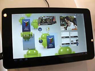 MELLOMSTOR: Optimus Pad har 8,9 tommers skjerm, og er større enn Samsung Galaxy Tab, men mindre enn Apples iPad.