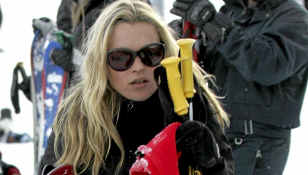 KUL I BAKKEN: KAte Moss holder stilen på skiferie i Aspen.