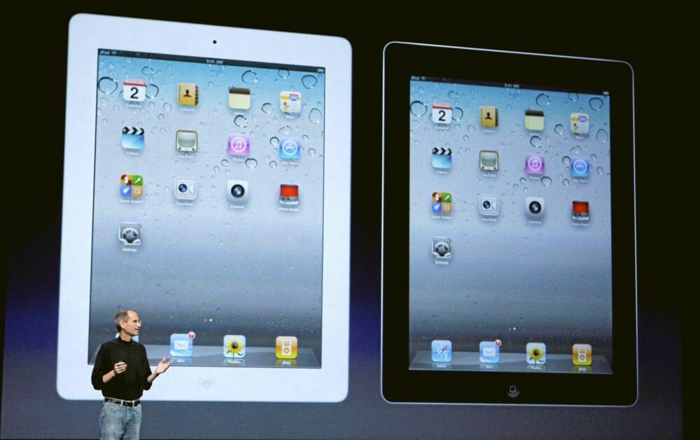 Apple iPad2 kommer også i hvit, for de som synes det er finere enn sort.