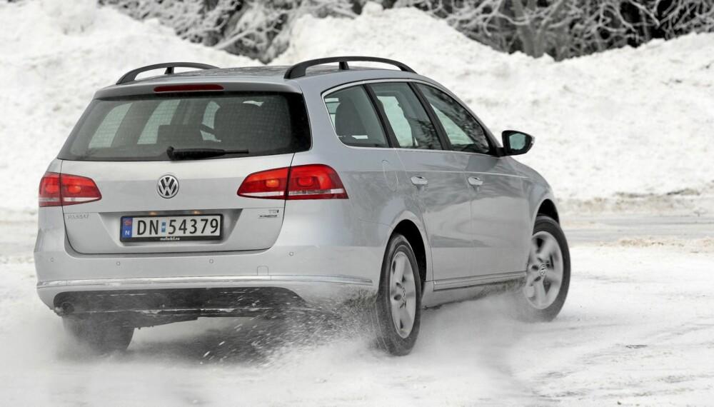 VW Passat 1,6 TDI stasjonsvogn har de samme livlige veiegenskapene som de dyrere modellene.