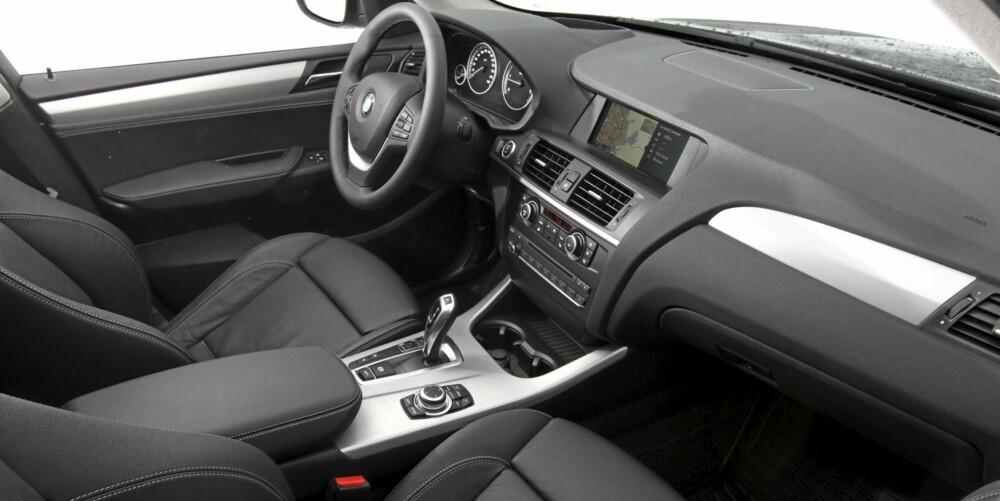 FLOTT MILJØ: Det er ikke vanskelig å trives i BMW X3.