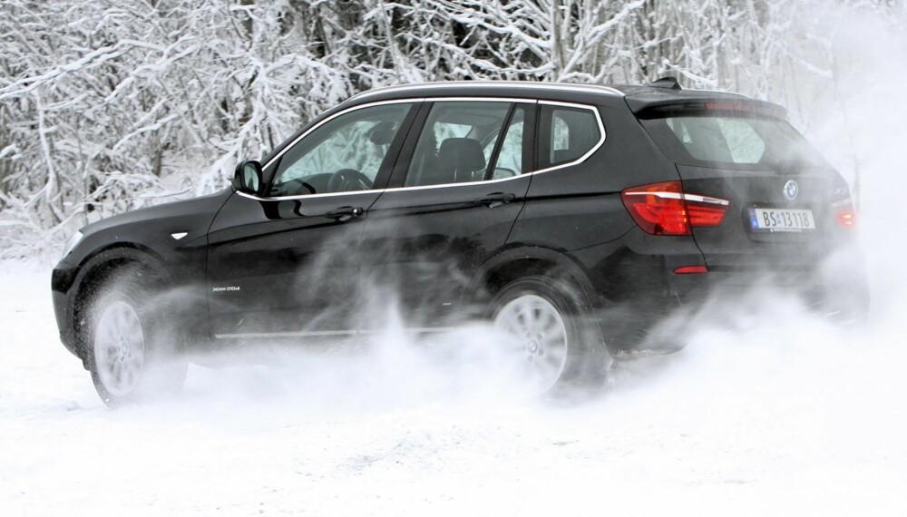 LEKEN: BMW X3 er med på leken hvis du byr opp til dans.