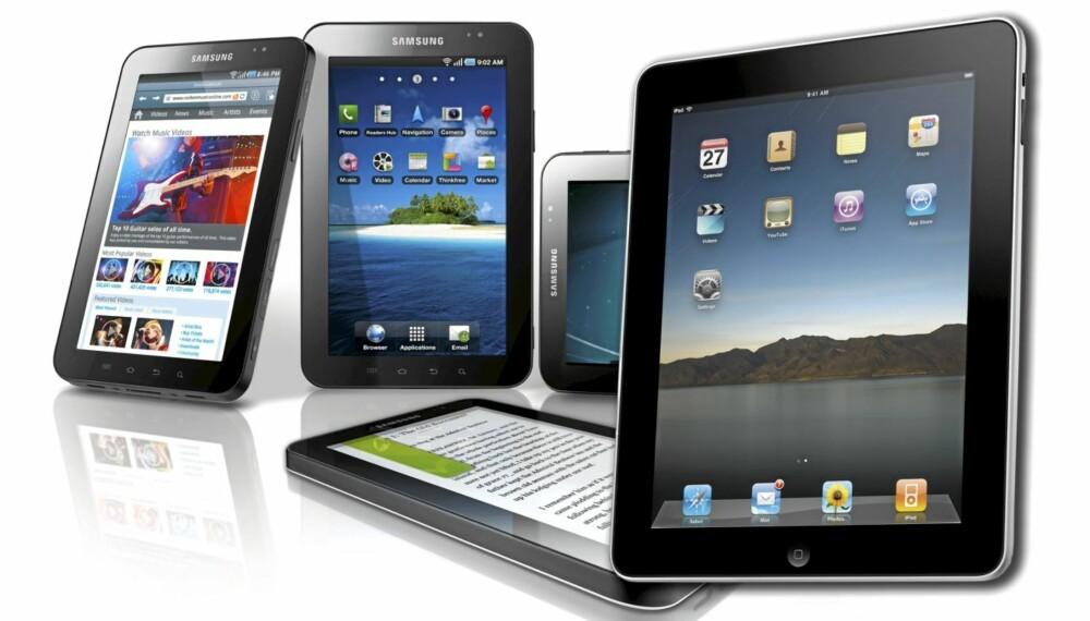 BEST: iPad 1 og Galaxy Tab er de to eneste reelle alternativene på nettbrettmarkedet akkurat nå. ICRT har kåret disse til å være omtrent like gode.